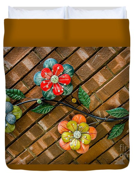 Wall Flowers Duvet Cover