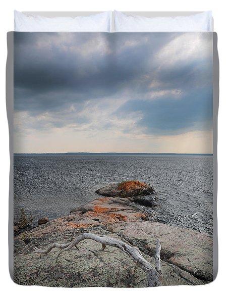 Wall Island Lichen Driftwood 3640 Duvet Cover