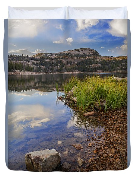 Wall Lake Duvet Cover by Chad Dutson