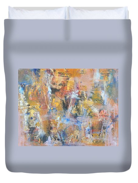 Wall Memories Duvet Cover by Becky Chappell