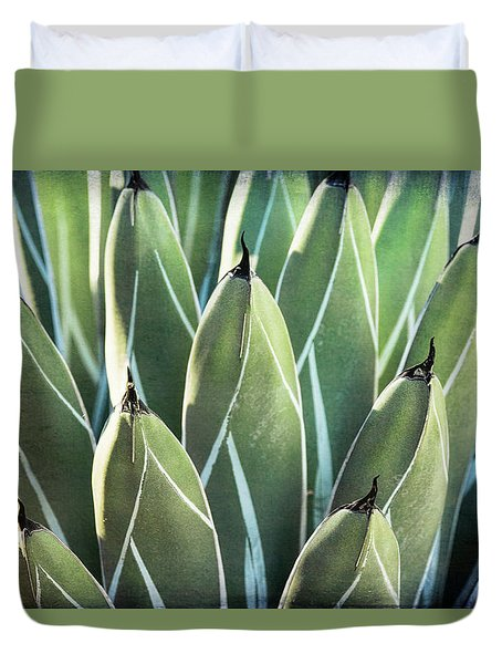 Duvet Cover featuring the photograph Wall Of Agave  by Saija Lehtonen