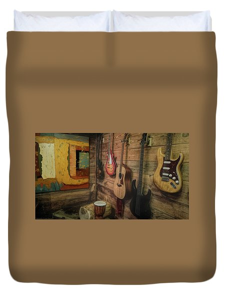 Wall Of Art And Sound Duvet Cover