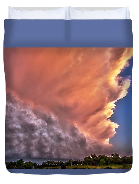 Wall Of Boiling Clouds Duvet Cover