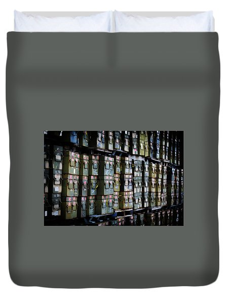 Wall Of Containment Duvet Cover