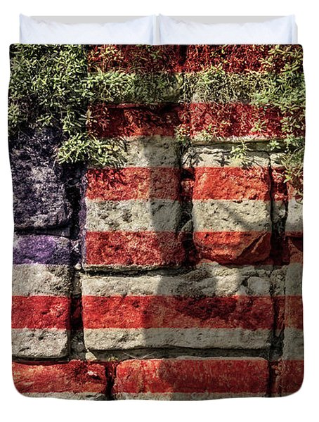 Wall Of Liberty Duvet Cover