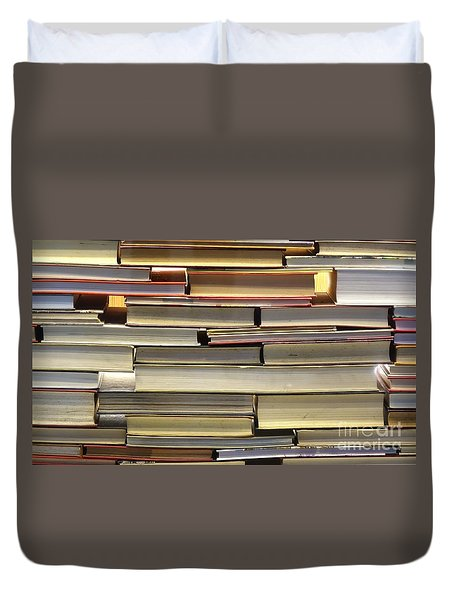 Wall Of Old Books Duvet Cover