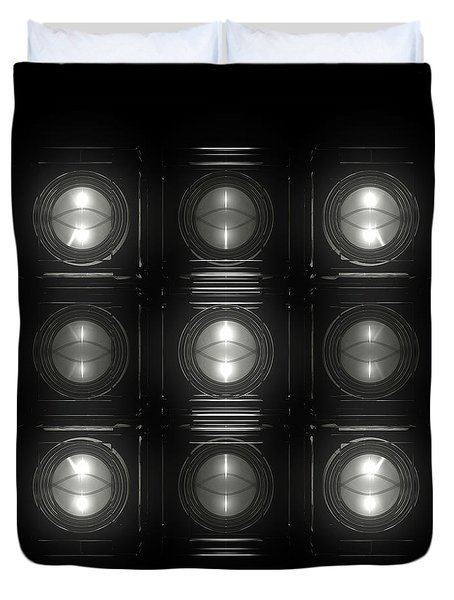 Wall Of Roundels 3x3 Duvet Cover
