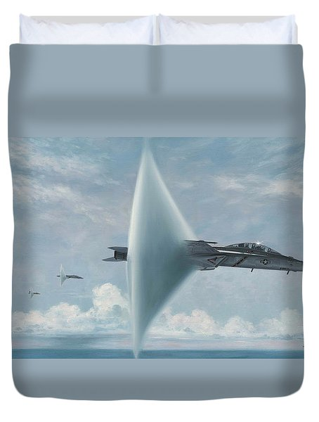 Wall Of Sound Redcocks Style Duvet Cover by Wade Meyers