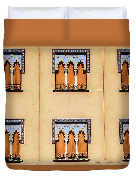 Wall Of Windows Duvet Cover