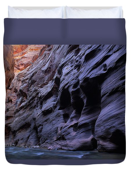 Wall Street At The Narrows At Zion National Park Duvet Cover