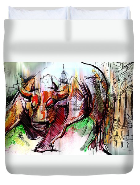 Wall Street New Money Duvet Cover