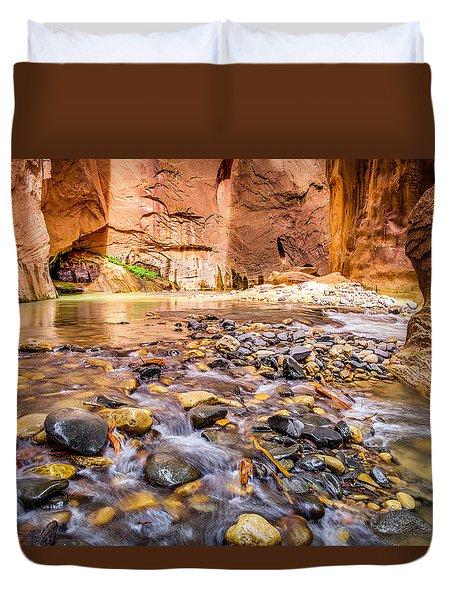 Wall Street Zion National Park Duvet Cover