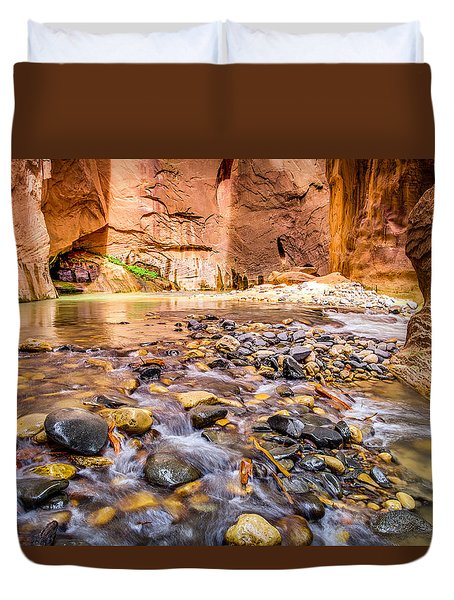 Wall Street Zion National Park Duvet Cover