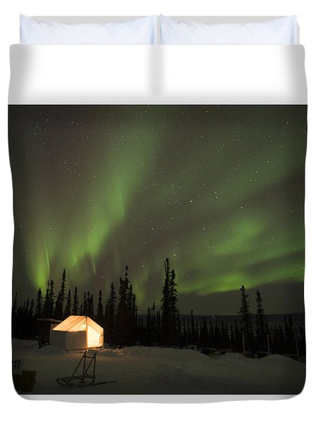 Wall Tents And Aurora Duvet Cover