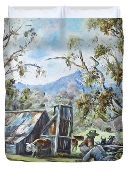 Wallace Hut, Australia's Alpine National Park. Duvet Cover