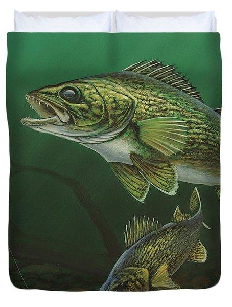 Walleye Duvet Cover