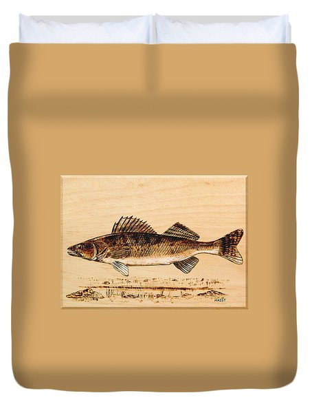 Walleye Duvet Cover by Ron Haist