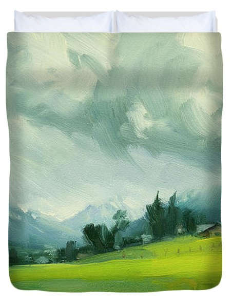 Wallowa Valley Storm Duvet Cover