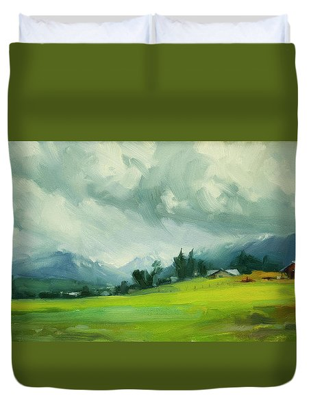 Wallowa Valley Storm Duvet Cover