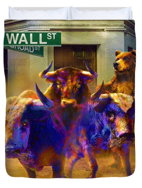 Wall Street Il Duvet Cover