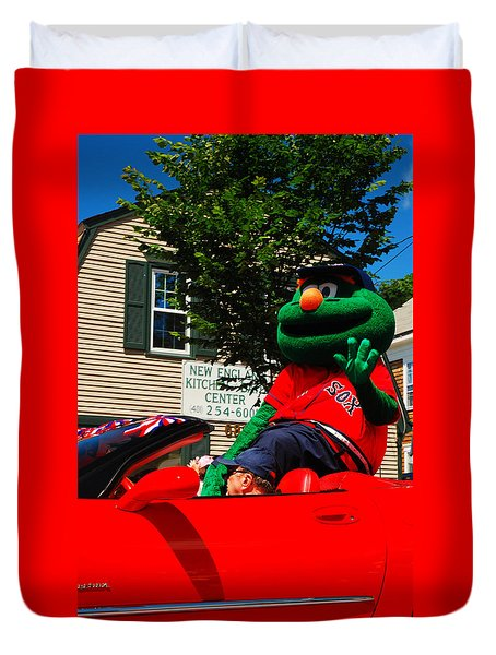 Duvet Cover featuring the photograph Wally On Parade by James Kirkikis