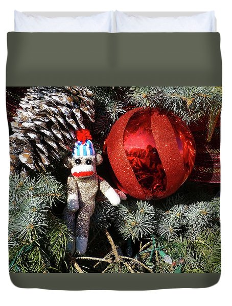 Wally's Christmastime Fun Duvet Cover