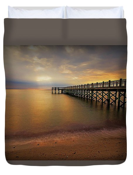 Walnut Beach Pier Duvet Cover