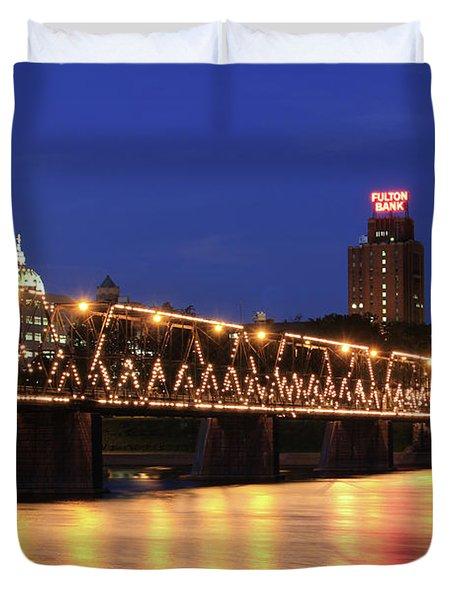 Walnut Street Bridge Duvet Cover by Shelley Neff