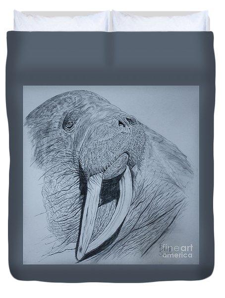 Walrus Duvet Cover by David Joyner
