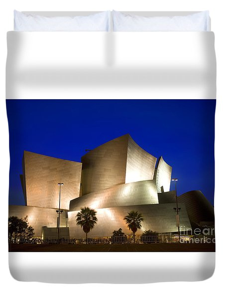 Walt Disney Concert Hall Duvet Cover by Wernher Krutein
