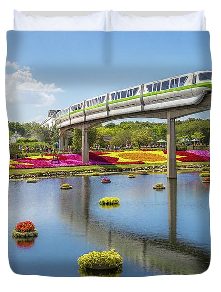 Walt Disney World Epcot Flower Festival Duvet Cover