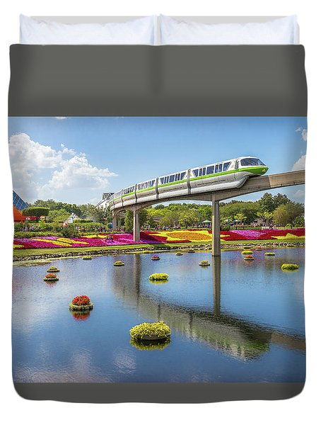 Walt Disney World Epcot Flower Festival Duvet Cover