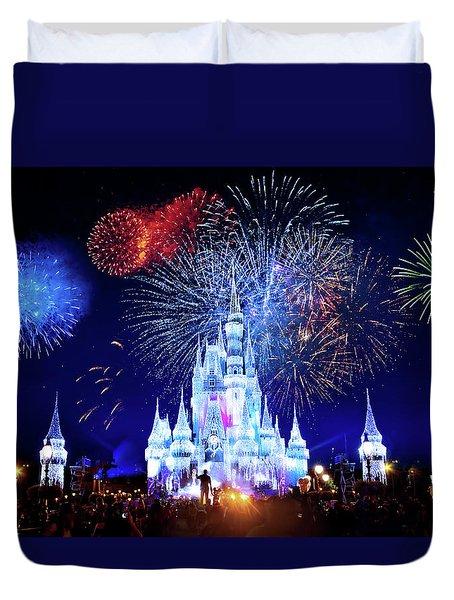 Walt Disney World Fireworks  Duvet Cover