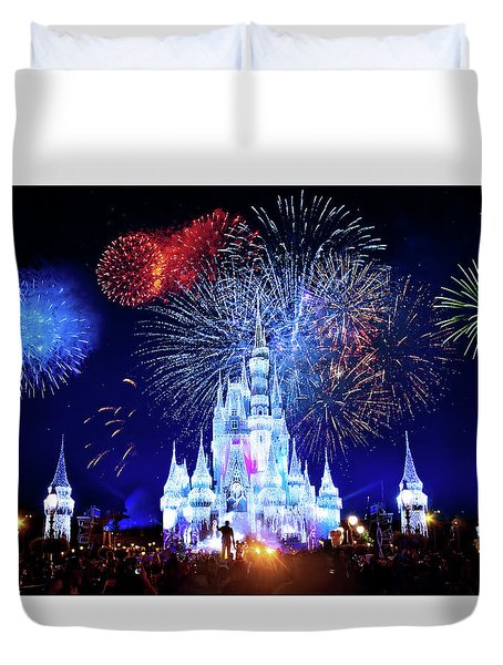 Walt Disney World Fireworks  Duvet Cover