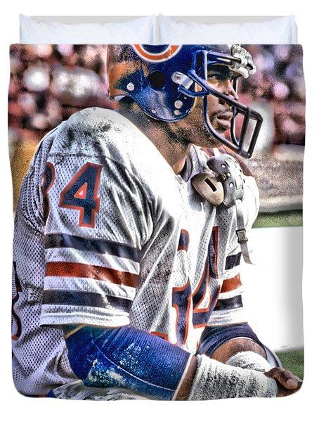 Walter Payton Chicago Bears Art 2 Duvet Cover
