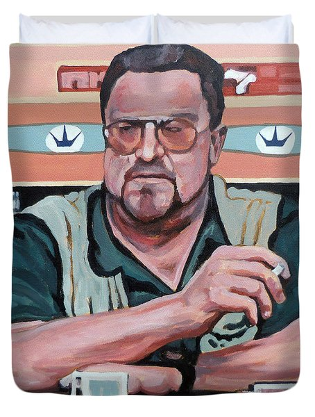 Walter Sobchak Duvet Cover by Tom Roderick