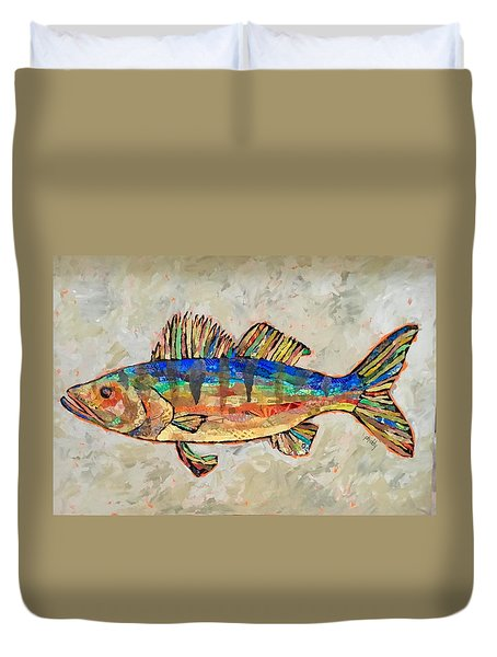 Walter The Walleye Duvet Cover