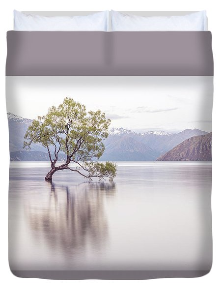 Wanaka Tree Duvet Cover by Racheal Christian