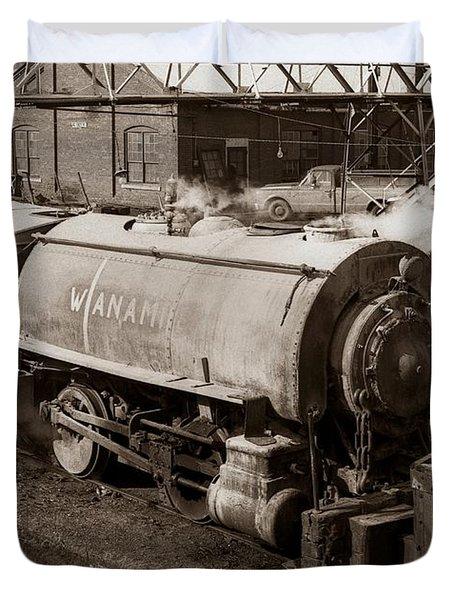 Wanamie Pennsylvania Coal Mine Locomotive Lokey 1969... Duvet Cover
