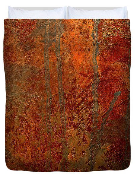 Duvet Cover featuring the mixed media Wander by Michael Rock
