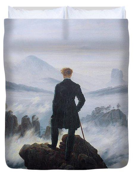 Wanderer Above The Sea Of Fog Duvet Cover