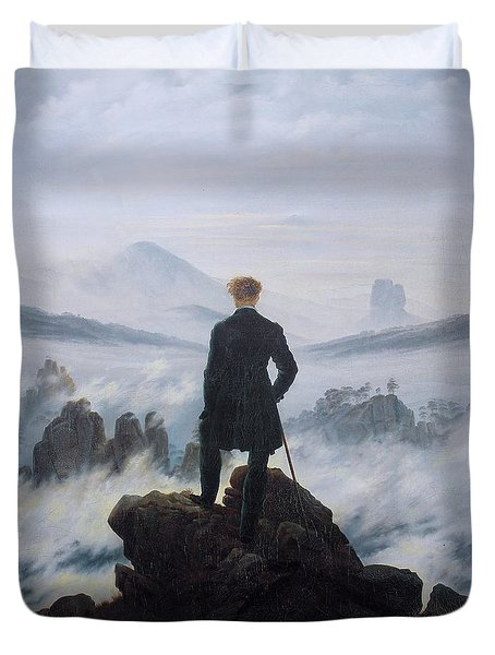 Wanderer Above The Sea Of Fog Duvet Cover