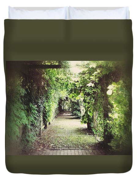 Duvet Cover featuring the photograph Wandering by Karen Stahlros