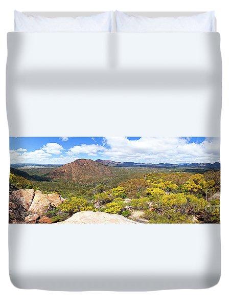 Duvet Cover featuring the photograph Wangara Hill Flinders Ranges South Australia by Bill Robinson