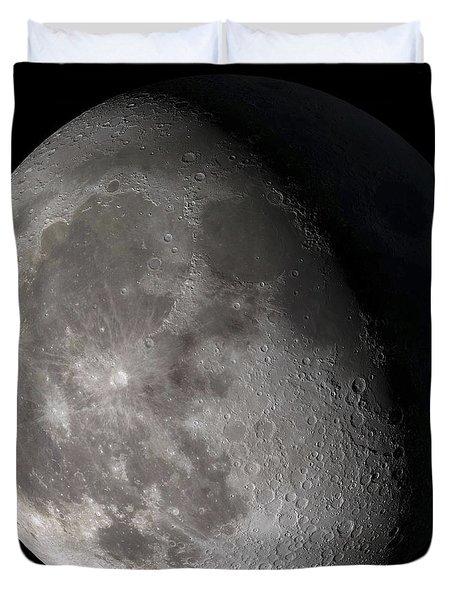 Waning Gibbous Moon Duvet Cover by Stocktrek Images