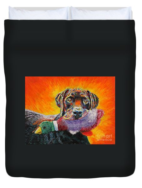 Wannabe Retriever Great Dane Duvet Cover