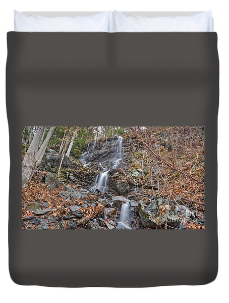 Wantastiquet Trail Falls Duvet Cover