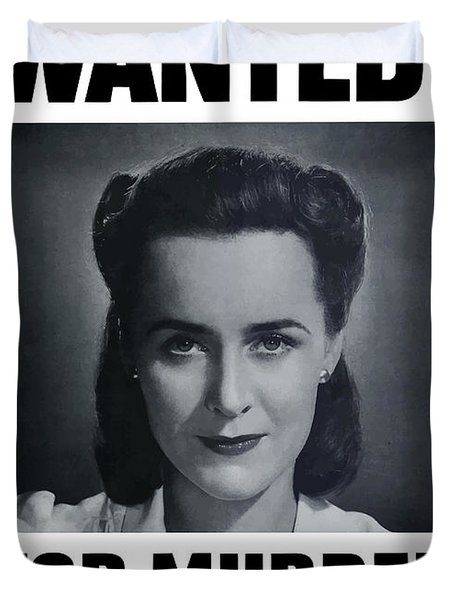 Housewife Wanted For Murder - Ww2 Duvet Cover