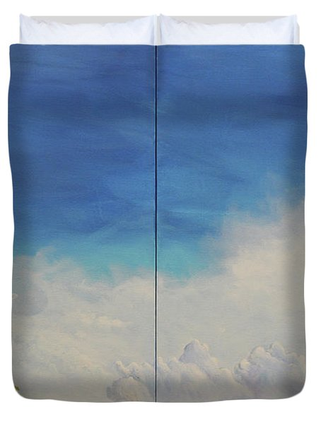 Duvet Cover featuring the painting War And Peace by James Andrews