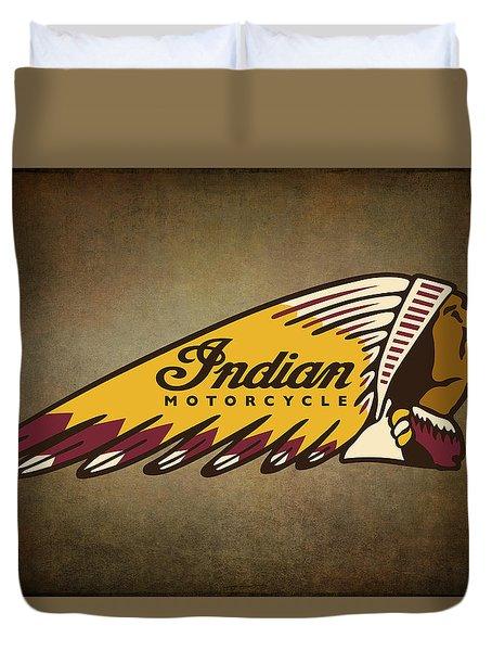 War Bonnet Indian Motorcycle Vintage Logo Duvet Cover
